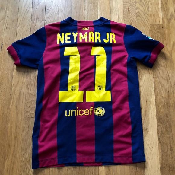 size 40 326d7 966c5 Neymar Jr Nike Barcelona Soccer Jersey Youth Large